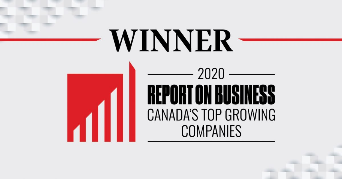 Winner of Canada's Top Growing Companies